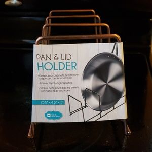 Pan and lid holder